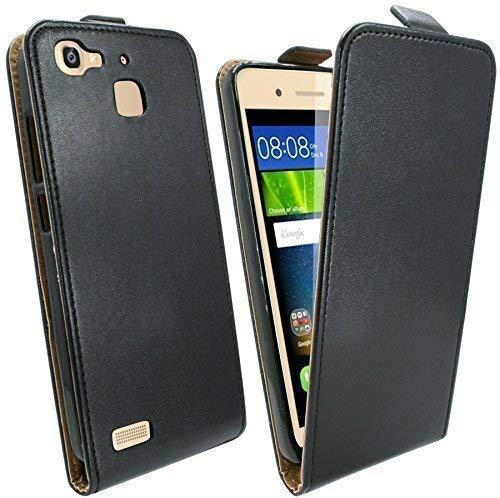 ENERGMiX Handytasche Flip Style kompatibel mit Huawei GR3 in Schwarz Klapptasche Hülle