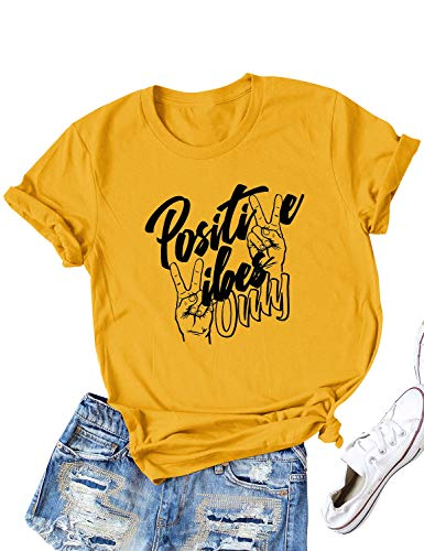 TAOHONG Women Auntie Letter Shirt Aunt Vibes Tee Aunt Gift Letter Print T-Shirt Tops