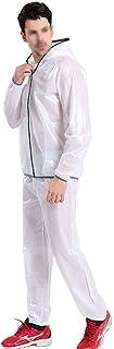 SWQG-pans Combination Raincoat Waterproof and Rainproof Rain Jacket and Trouser Suit Windproof Hooded Reflective Raincoat ...
