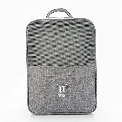 BLENGA Bolsa de zapatos portátil impermeable para viaje, bolsa de almacenamiento grande con cremallera, organizador multifuncional para maleta para hombres y mujeres (GR)