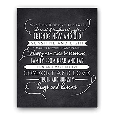 Ocean Drop Designs May This Home Chalkboard Typography Wall Sign by, The Perfect New Home or Housewarming Gift