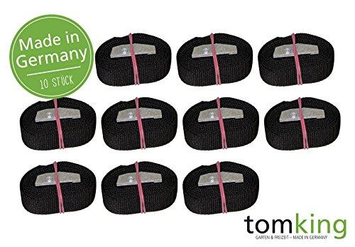 10 x Befestigungsriemen 1 m x 25 mm 250 kg Made in Germany Spanngurte Zurrgurte Schnallgurte Klemmschloss