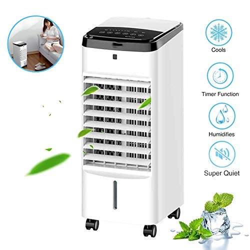 FYJTL Klima Anlage 3in1 Aircooler, 4 Liter Mobile Klimaanlage Klimagerät Luftreiniger Ventilator mit Fernbedienung Luftkühler Luftbefeuchtung/A