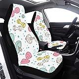 Juego de 2 piezas Fundas de asiento de coche para bebé Fitness Mancuernas Fundas de asiento de ejercicio para mujeres Compatible con bolsas de aire Ajuste universal para automóviles Camiones y SUV Fu