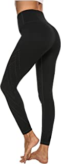 AFITNE Women's High Waist Yoga Pants with Pockets, 4 Way Stretch Non See-Through Tummy Control Leggings with Breathable Hole