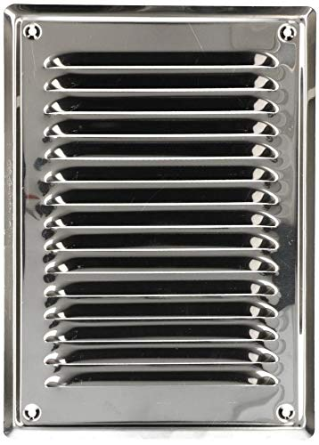 KOTARBAU® Lüftungsgitter 230x165 mm Edelstahl Abluftgitter für Kamin Belüftung Silber mit Insektschutzgitter beständig gegen Korrosion