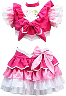 Cosonsen Suite PreCure Cure Melody Hojo Hibiki Cosplay Costume Red White Color