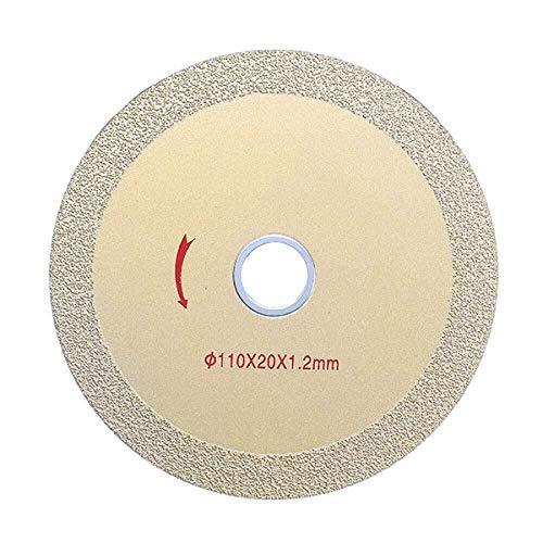 JIAHONG Sierra de Corte de 1,2 mm Ultra Saw Hoja Delgada de Diamante Herramienta de Corte del Disco de Cristal de 110 mm x 20 mm de cerámica, A