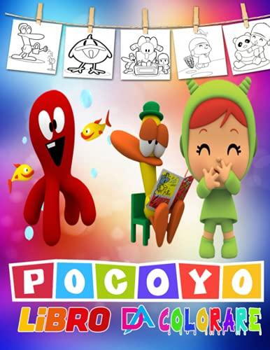 Pocoyo Libro Da Colorare: Fantastici Libri Da Colorare Bambini 4-8- Anni, 50 Disegni Da Colorare Per Bambini Anti Stress, Attività Creative Per Bambini