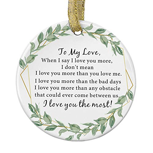 Julius Thomson Personalized Christmas Ornaments I Love You Most, Girlfriend/Boyfriend Birthday Gifts, Husband Wife Gifts, Women/Men, Romantic Presents for Valentines Day Christmas