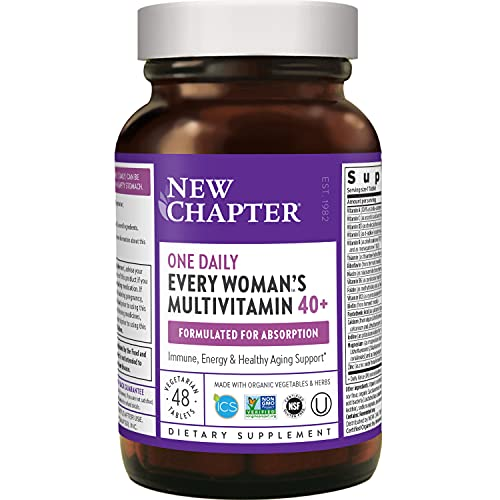 New Chapter Women's Multivitamin + Immune Support - Every Woman's One Daily 40+, Fermented with Probiotics + Vitamin D3 + B Vitamins + Organic Non-GMO Ingredients - 48 ct