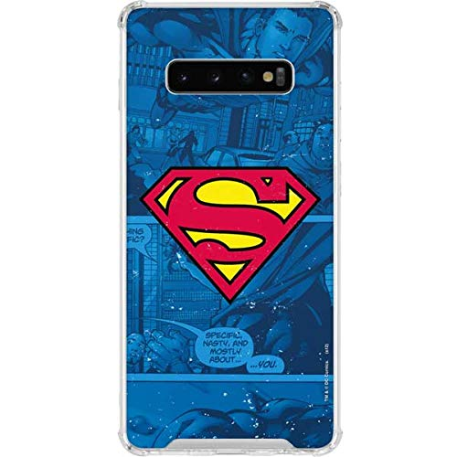 Skinit Clear Phone Case Compatible with Galaxy S10 Plus - Officially Licensed Warner Bros Superman Logo Design
