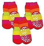 Ewers Baby- & Kindersocken 3er Pack, Stoppersocken, Antirutschsohle für Jungen & Mädchen Ringel, MADE IN EUROPE, Anti-Rutsch, ABS
