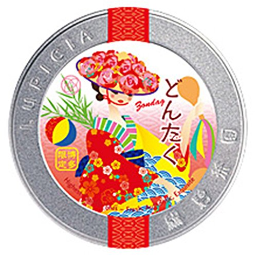 【福岡限定】ルピシア 博多オリジナルティー50g限定ラベル缶製品 (どんたく)