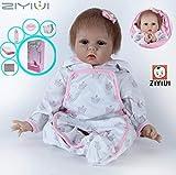 ZIYIUI 22inch 55 CM Pas Cher Poupées Reborn bébé Fille Souple Silicone réaliste Reborn Baby Dolls Fille Jouet Girls Toy