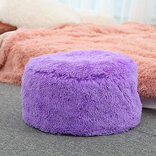 Aufblasbarer Hocker Sofa Home Dekoration Tragbarer Stuhl, Morbuy Air gefüllt Komfort Sitz ideal als Fußhocker und tragen Sie Schuhe Hocker Fußhocker + aufblasbare Pumpe (50cm x 35cm,Lila)