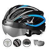 Allyine Fahrradhelm MTB Mountainbike Helm mit abnehmbarem magnetischem Visier Abnehmbarer Sonnenschutzkappe Radhelm Rennradhelm für Erwachsenen Herren Damen