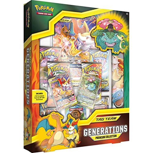 Pokemon TCG: Tag Team Generations Premium Collection | 3 Foil Promo Cards | 7 Booster Pack | 1 Oversize Foil Card| 1 Full-Size Playmat
