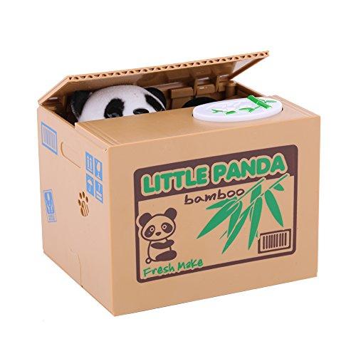 Greensen Elektronische Panda-Sparbüchse Elektronische Spardose für Kinder Gelddose Automatische Diebstahl Panda Piggy Bank Sparbüchse Sparschwein Lustiges Sparschwein für Kleingeld