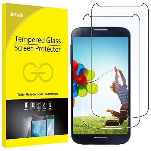 JETech Pellicola Protettiva Compatibile con Samsung Galaxy S4, Vetro Temperato, Pacco da 2