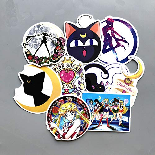 HUNSHA Sailor Moon Maleta Trolley Maleta Pegatina Agua Hielo Luna Pegatina Dibujos Animados