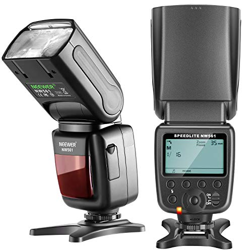 Neewer NW561 LCD Display Flash Speedlite per Canon Nikon Panasonic Olympus Pentax Fijifilm e Sony con Mi Hot Shoe, DSLR e Mirrorless Fotocamere con Standard Hot Shoe