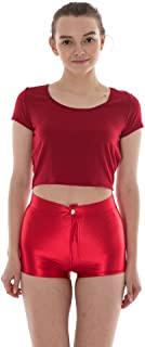 Women's High Waist Shiny Satin Sexy Disco Short Pants 9 Colors