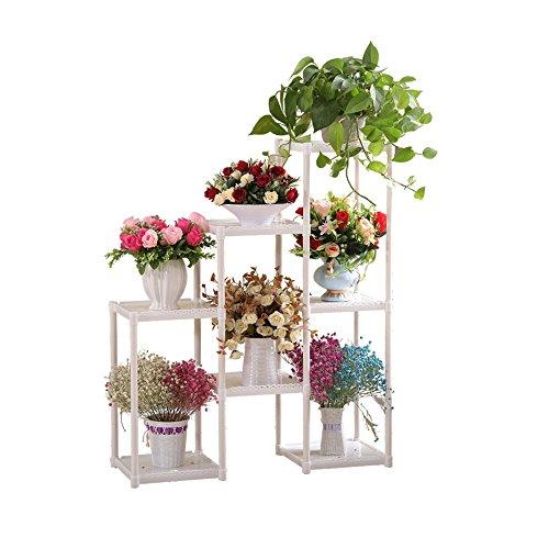 Bloemstandaard van kunststof, creatieve en eenvoudige bloemenstandaard, bloemenstandaard, bloemenstandaard, voor balkon, woonkamer, slaapkamer, hoek, h50 cm x 50 cm