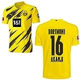 PUMA Borussia Dortmund BVB Heimtrikot 2020 2021 Home Trikot Sponsor BL Logo Kinder Manuel Akanji 16 Gr 176