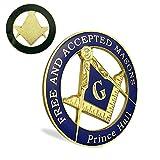 Masonic Prince Hall Car Emblem Freemason Metal Auto Decal