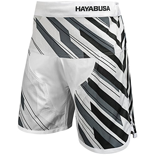 Hayabusa Pantaloncini da MMA Metaru Charged (Bianco, XL)