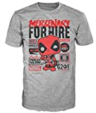 Marvel Comics POP! Tees T-Shirt Deadpool Mercenary For Hire Size XL Funko shirts