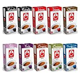 100 Nespresso Compatible Coffee Capsules Pods Variety Pack - 8 Blends inc. Ristretto, Intenso