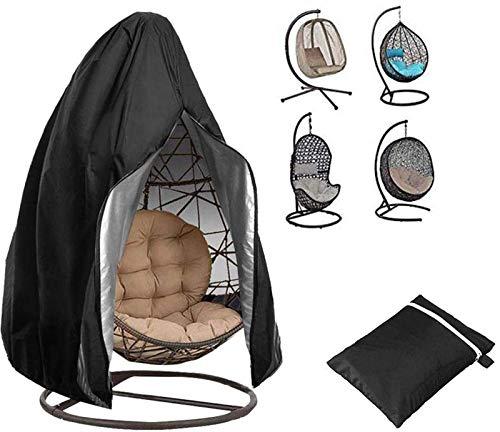 Funda para silla colgante de patio, funda para silla con cremallera, impermeable, resistente al viento, resistente al viento, resistente al agua, protector de muebles de jardín, 190 x 115 cm