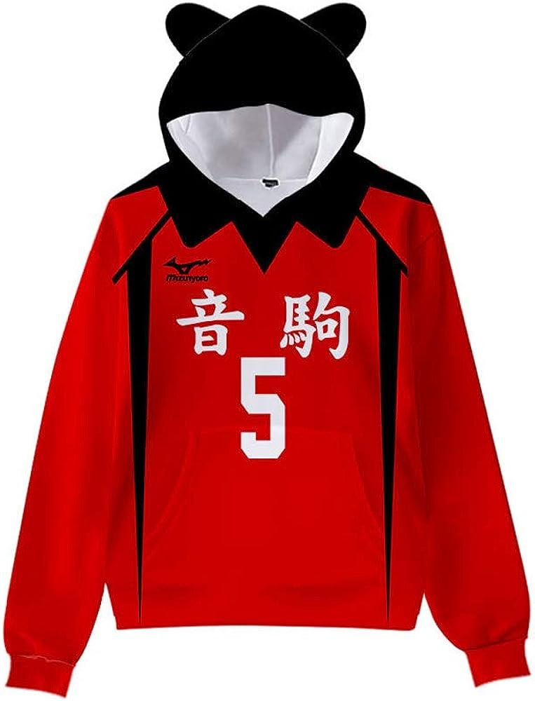 Xiao Maomi Haikyuu Nekoma Hoodie Kozume Kenma Cosplay Jersey Sweatshirt Pullover Sweater Kids Halloween Costume