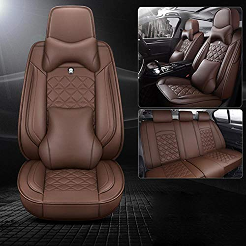 LUOLONG autostoelhoezen, voor + achter), speciale stoelhoezen voor Suzuki Swift Wagon Grand Vitara Jimny Liana 2 Sedan Vitara SX4 autoaccessoires Coffee Luxury
