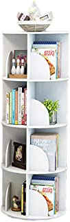 ZXY Revolving Bookshelf,Easy Assembly Multifunctional Bookcase Simple Modern Table Floor-Standing Storage Rack Multi-Tier for Home-C 40x128cm(16x50inch)