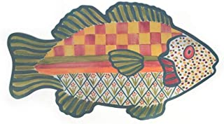 MacKenzie-Childs Freckle Fish Pet Placemat - Rubber Backing - Food and Water Mat - Dine Placemat - Polypropylene - 24