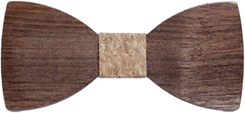Men's Tie Classic Tuxedo Wooden Handmade Wedding Bow Tie Walnut Wood Adjustable
