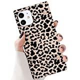 GYZCYQ Square Case Compatible with iPhone 12/12 Pro Cute Leopard Cheetah Classic Fashion Slim Fit Anti Scratch Shockproof Thin Soft TPU Rubber Silicone Protective Cover for iPhone 12/12 Pro 6.1 Inch