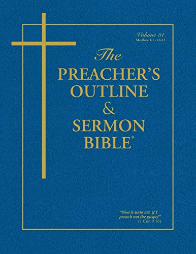 Compare Textbook Prices for The Preacher's Outline & Sermon Bible: Matthew Vol. 1 Preacher's Outline & Sermon Bible-KJV  ISBN 9781574070019 by Worldwide, Leadership Ministries