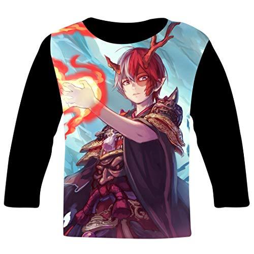 Children long sleeve T-Shirt キッズ 長袖Tシャツ My hero academia 137 私のヒーロー学院 3D プリント hip hop風 カジュアル丸首 シャツ スポーツ スウェット 男女兼用