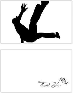 Jumping Dancer Sports Hip Hop Thank You Card Birthday Wedding Business Message Set