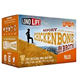 LonoLife Chicken Bone Broth Powder with 8g Protein, Paleo and Keto Friendly, Single Serve Cups, 10 Count