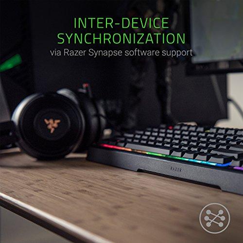 Razer Ornata Chroma Gaming Keyboard: Hybrid Mechanical Key Switches - Customizable Chroma RGB Lighting - Individually Backlit Keys - Detachable Plush Wrist Rest - Programmable Macro Functionality