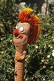 TB Keramik Gartenwurm Punk orange zum Stecken Gartenkeramik Wurm Dekoration