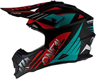 O'Neal 2 Series Unisex-Adult Off-Road Helmet (Black/Teal/Red, L)