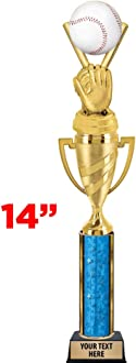 Crown Awards Cornhole Trophies 11 Black Lightning Cornhole Champion Trophy with Engraving Prime
