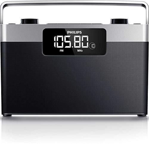 Radio Portátil PHILIPS AE2430 Negro, Sintonizador MW/FM, LCD amplia