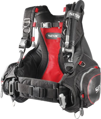 Buy Discount SEAC Scuba Diving BCD 3D, Black/Red (Large)